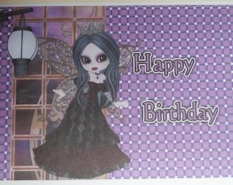 Gothic Teenager Birthday Card