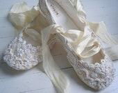 Champagne Wedding Ballet Shoes, Bridal flats, Bobka Shoes by Bobka Baby