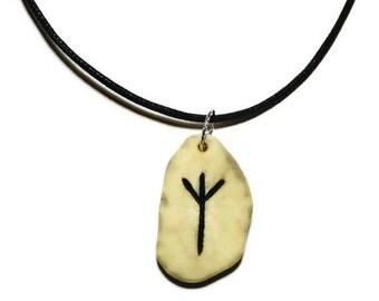 Algiz Bone Rune Necklace