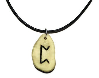 Perthro Bone Rune Necklace