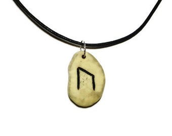 Uruz Bone Rune Necklace