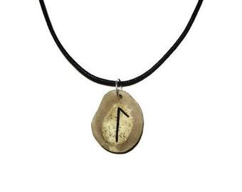 Laguz Bone Rune Necklace