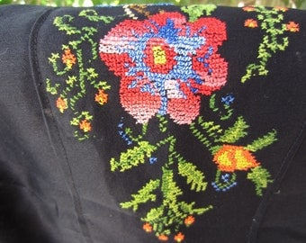 Vintage Bedouin Embroidered Pillow Cover
