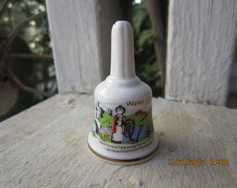 Welsh Bone China Bell Collectible English