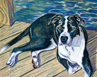 Custom Dog Painting, Custom Pastel Portrait from your photo, Personalized Pet Art, Pet Memorial Gifts, Dog Mom Gift