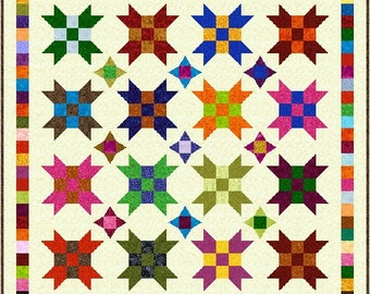 """FARMER'S DAUGHTER - 71"""" x 71"""" Double or 59"""" x 59"""" Small Double - Quilt-Addicts Pre-cut Quilt Kit or Finished Quilt"""