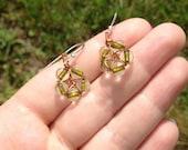 Reiki Infused Pentacle Earrings Set
