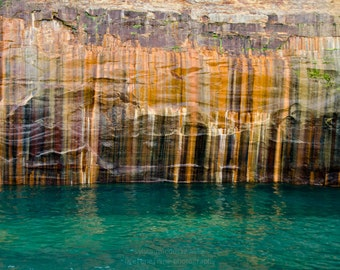 Pictured Rocks 01 ||| Nature Photograph | Rustic Modern Wall Art | Abstract Nature | Modern Minimalist Print | Landscape Photography