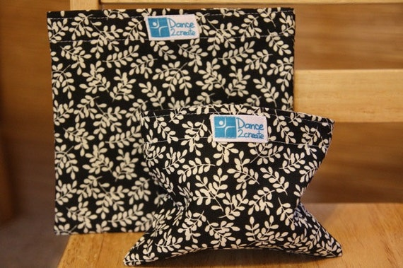 Reusable Snack Bag Set - Small and Large