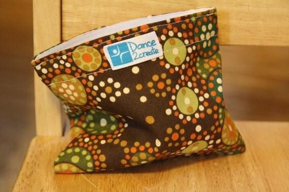 Reusable Treat Bag - Small Brown Dot