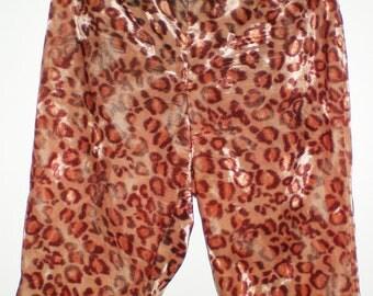"Vintage 50s 1950's leopard animal Print capri cigarette pants sz XS VLV 24""w"