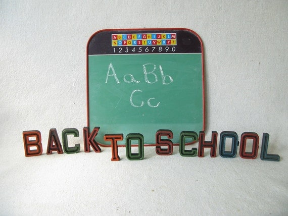 Vintage Letters Words BACK TO SCHOOL