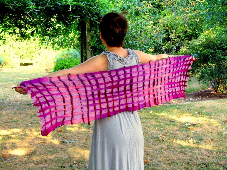Scarf SALE Felted ScarfNuno Felted ScarfLattice ScarfHandmade  Handmade Scarves For Sale Online