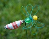 Bottlecap Bug Buddy Plant Decoration - Red