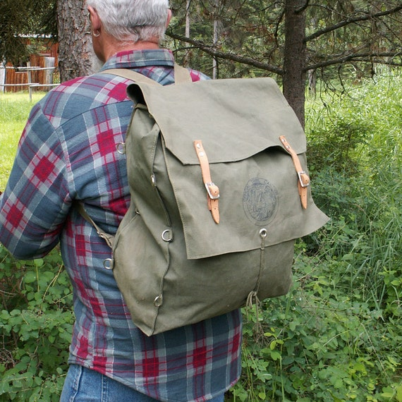 Official Trail Camper Pack Canvas Backpack