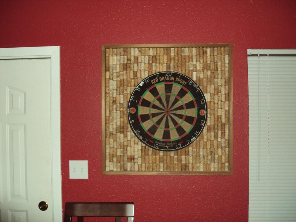 wine cork dart board backer by edgefinderllc on etsy. Black Bedroom Furniture Sets. Home Design Ideas