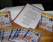 RESERVED Baptism Towel & subway art  Invitations reserved for HR