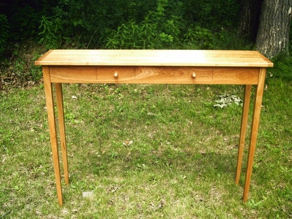 Items similar to console table cherry shaker style 48 for Sofa table 48 inches