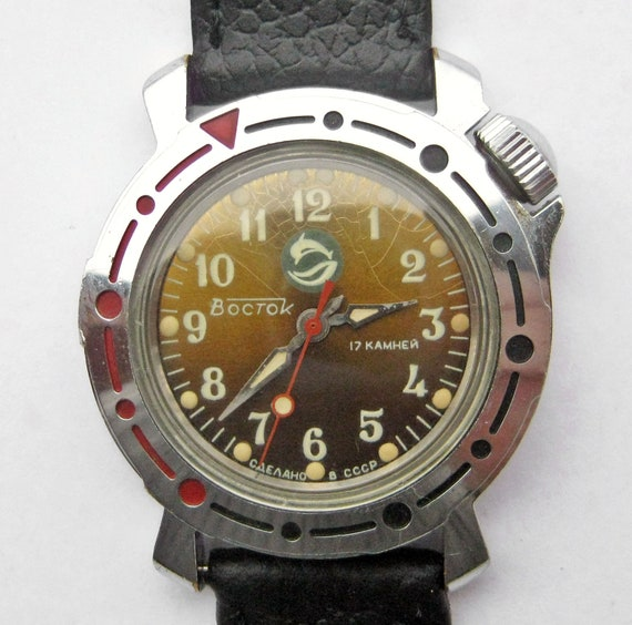 vintage soviet russian army vostok mens by