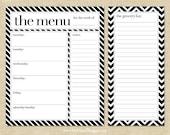 Menu Planning & Grocery List Note Pad Set