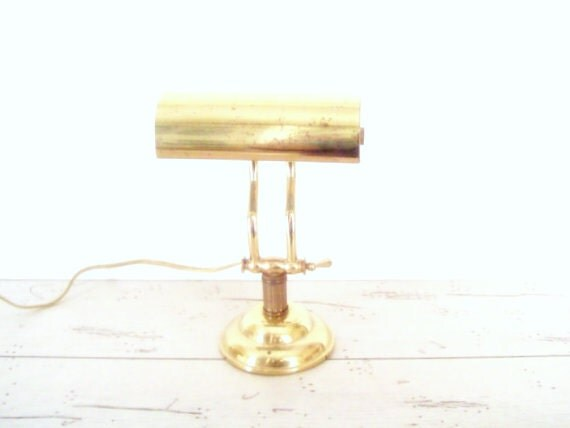 Vintage Brass Desk Lamp Small Student Lamp Petite Piano Lamp Vintage Lighting Home Decor