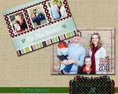Tis The Season -  Double-Sided Holiday photo Card