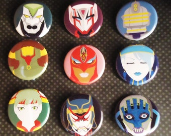 Tiger & Bunny Button Set