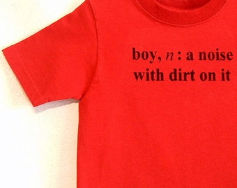 Boy Definition Screenprinted Children's T-shirt Black Ink