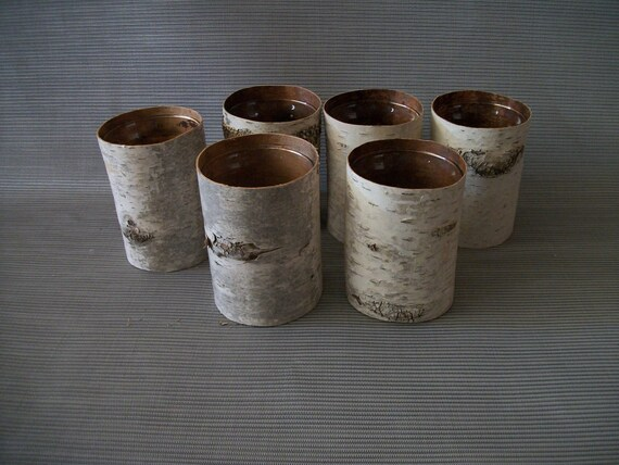 Birch Bark Vases (6)
