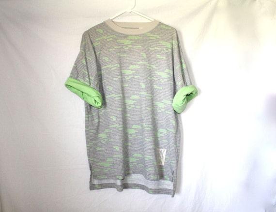 Slime Sleeve Vintage Oversized 1980s Roll Up T-shirt