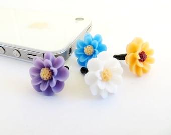 Flower iPhone Dust Plug- Anti-Dust Plug For Headphone Jack