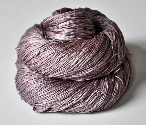 Withering red orchid - Silk Yarn Lace weight