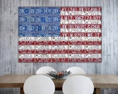 "License Plate Flag of the United States 24"" x 16"" Canvas Print"