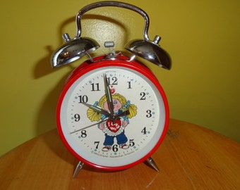 Collectible 1980's Cabbage Patch Kids Wind Up Bedroom Alarm Clock w/ Date