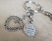 Daughter, Mother, Family, Niece, God Daughter Key Chain with Silver-tone Charm by Kristin Victoria Designs