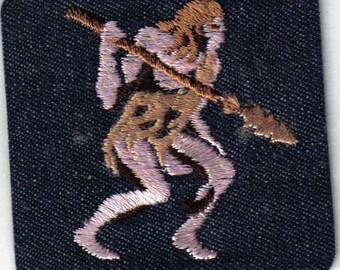 Caveman - Vintage 1970's Sewing Applique Patch