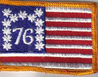 American Flag Yellow Border Military 1970's New Vintage Patch Applique