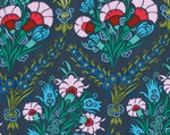 Cameo Josephine's Bouquet  Ink  by Amy Butler - Fabric -1/2 yard Cotton Quilt Fabric