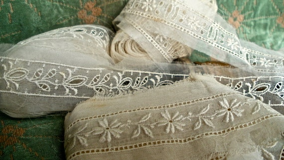 Gorgeous Organza collection Antique Lace stunning Wedding, Dolls, Christmas angels over 12 yards in total