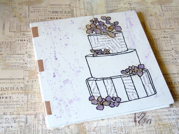 Art Journal Mixed Media - Pretty Cake