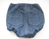 Diaper cover nappy cover baby boy denim- For the Boys