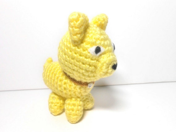 Crocheted Yellow Dog