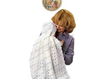 Lacy Christening Carrying Cape Pattern for Crochet - PrettyPatternsPlease