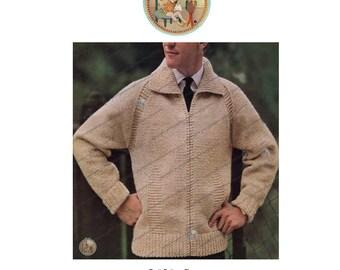 Mr. Rogers Mens' Cardigan Zipper Sweater - Vintage Digital Pattern - PDF - PrettyPatternsPlease