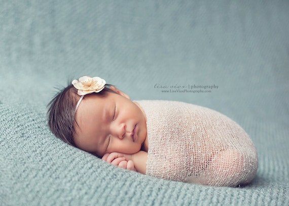 Baby Headband, Newborn Headband in Cream, Great for Photo Prop