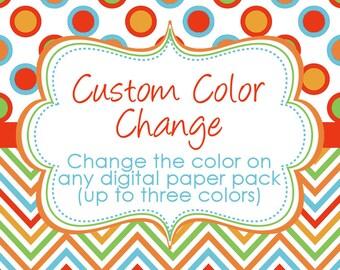 Custom color change for digital paper packs