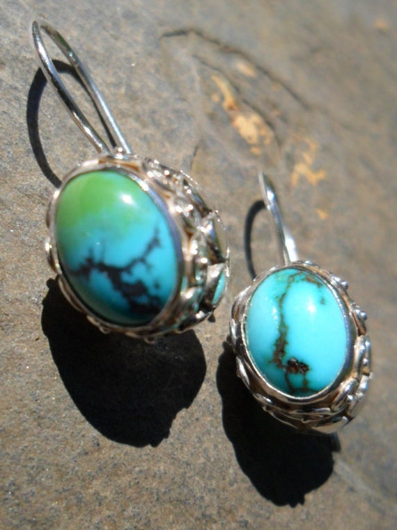 Sajen .925 Turquoise and Sterling Silver Earrings