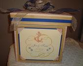 Custom wedding card boxes -beach inspired