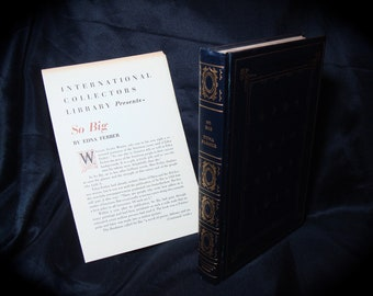 1924 Doubleday and Co Collectors Edition So Big by Edna Ferber.