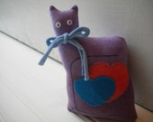 Purple Love Cat